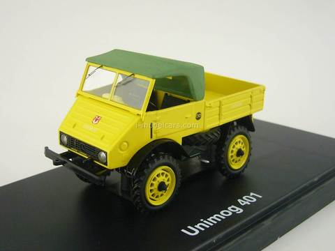 Mercedes Unimog 401 yellow - green Schuco 1:43