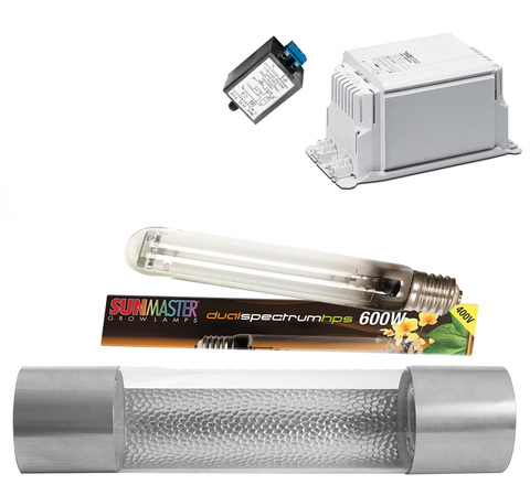 Комплект ДНАТ с светильником и лампой мощностью 600w