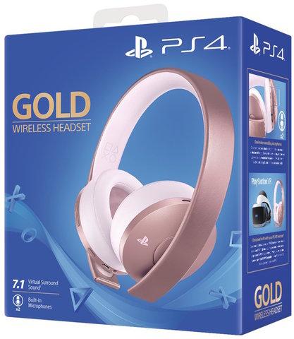 PS4 Гарнитура беспроводная черная Gold (Gold Wireless Headset: CUHYA-0080: SCEE, розовая)