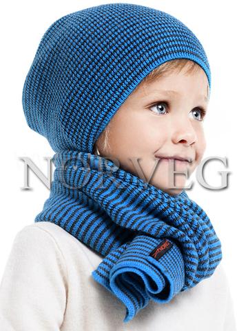 Шарф детский и подростковый Norveg (синий)