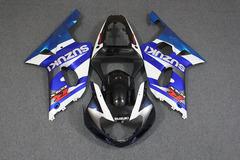 Комплект пластика для мотоцикла Suzuki GSX-R1000 00-02 Сине-Белый