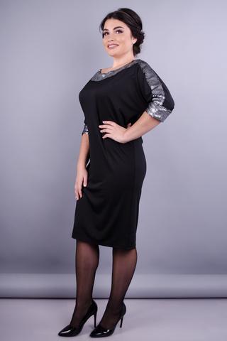 Клео. Вечернее платье больших размеров. Черный.