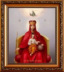 Державная икона Божьей Матери на холсте.