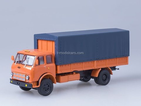 MAZ-53352 with awning 1974-1976 orange 1:43 Nash Avtoprom