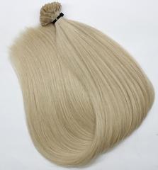 Волосы на кератиновых капсулах цвет  Солнечный морозный блонд -52 см