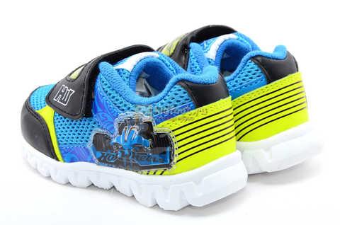 Светящиеся кроссовки Хот Вилс (Hot Wheels) на липучке для мальчиков, цвет синий. Изображение 7 из 15.