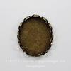 Сеттинг - основа для камеи или кабошона 12х10 мм (оксид латуни)