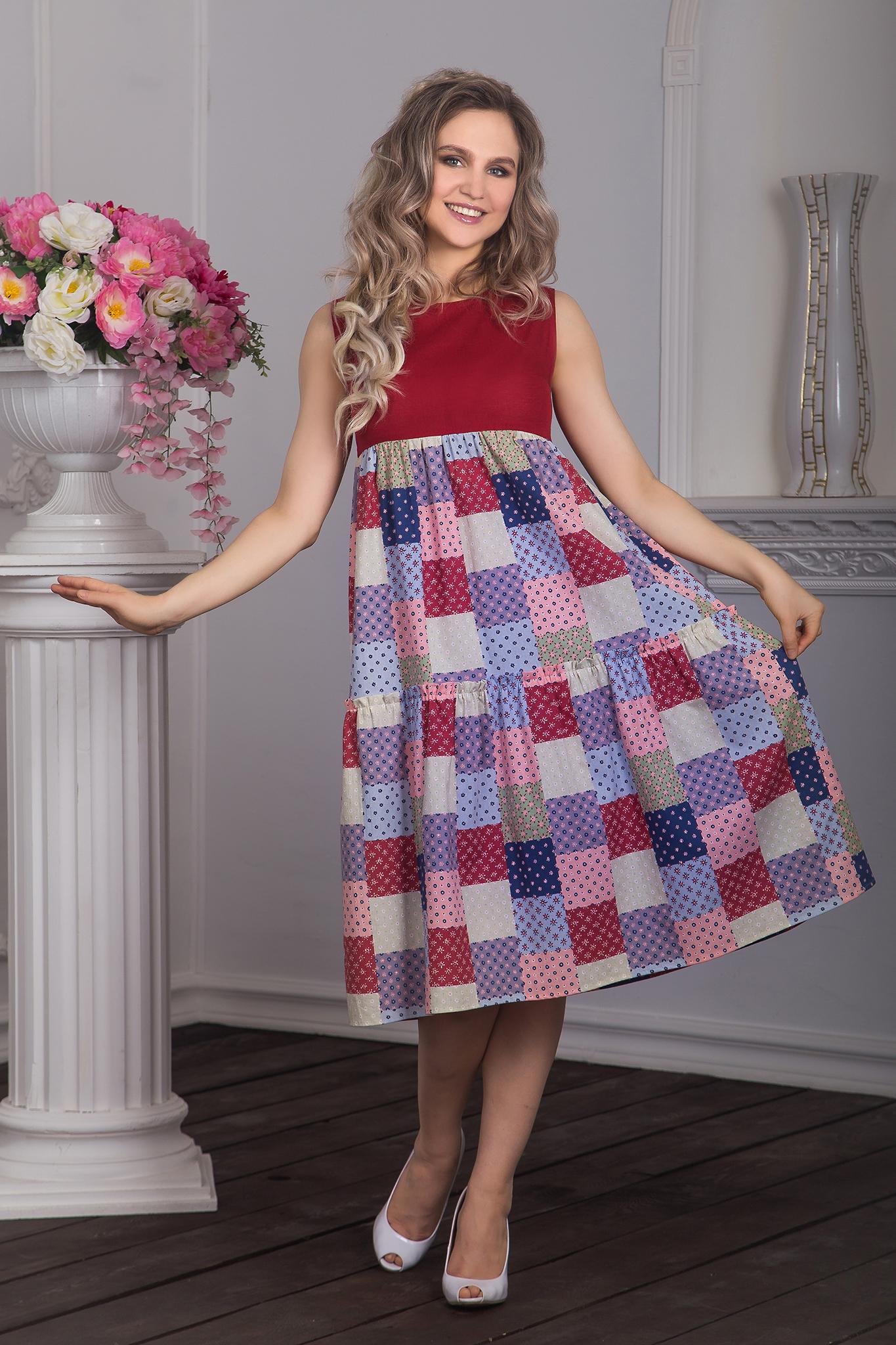 Платье Вишневый пэчворк от Иванки