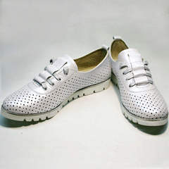 Женские туфли больших размеров летние Mi Lord 2007 White-Pearl.