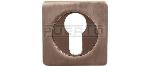 Фурнитура - Накладка На Цилиндр квадратная Puerto ET AL 02, цвет никель матовый/никель блестящий