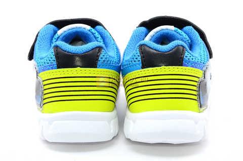 Светящиеся кроссовки Хот Вилс (Hot Wheels) на липучке для мальчиков, цвет синий. Изображение 8 из 15.