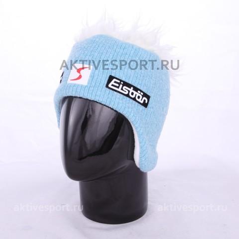 Шапка вязаная с волосами Eisbar Cocker SP 035