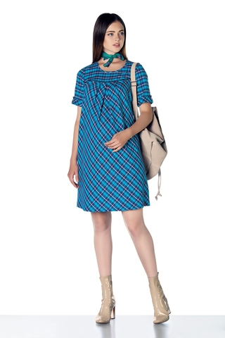 Платье 07861 синий