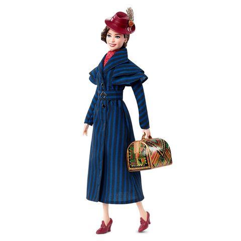 Кукла Дисней коллекционная Мэри Поппинс (Mary Poppins) в синем пальто - Barbie Signature, Mattel