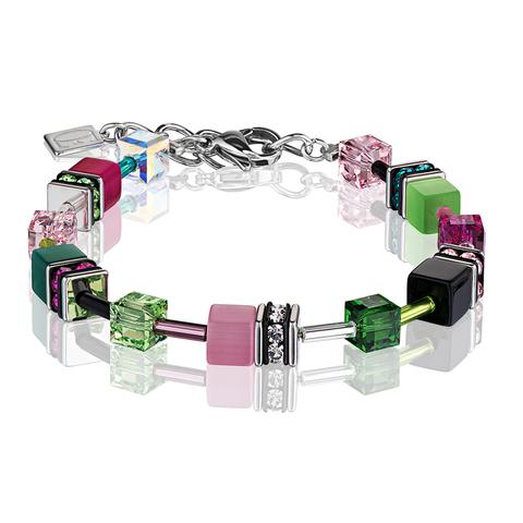 Браслет Coeur de Lion 2838/30-0504 цвет зелёный, розовый, чёрный