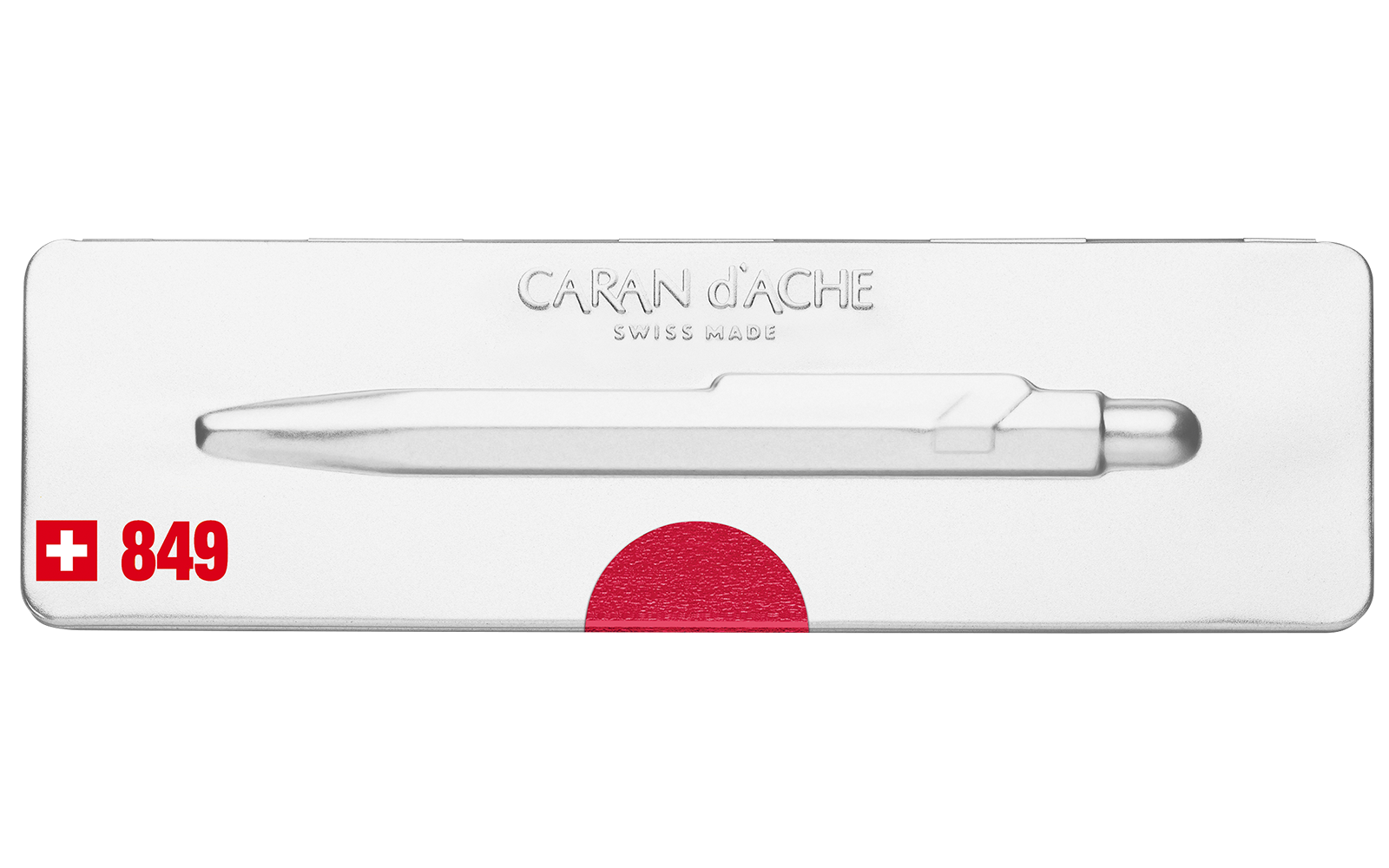 Carandache Office 849 Pop Line - Metallic Red, шариковая ручка, M