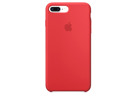 Apple iPhone 7/8 Plus Чехол Silicon Case (Красный)