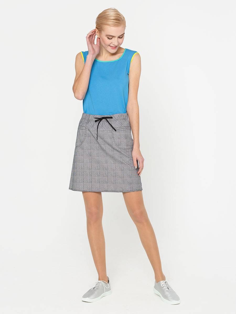 Юбка Б020-320 - Мини-юбка из плотной хлопковой ткани отлично держит форму. А силуэт красиво сидит и акцентирует внимание на ногах.