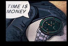 """Постер """"Время деньги"""""""