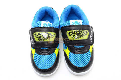 Светящиеся кроссовки Хот Вилс (Hot Wheels) на липучке для мальчиков, цвет синий. Изображение 11 из 15.