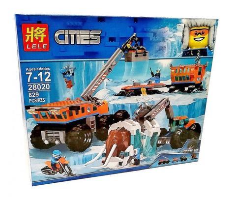 Конструктор LELE City Передвижная арктическая база 28020 (City 60195) 829 дет