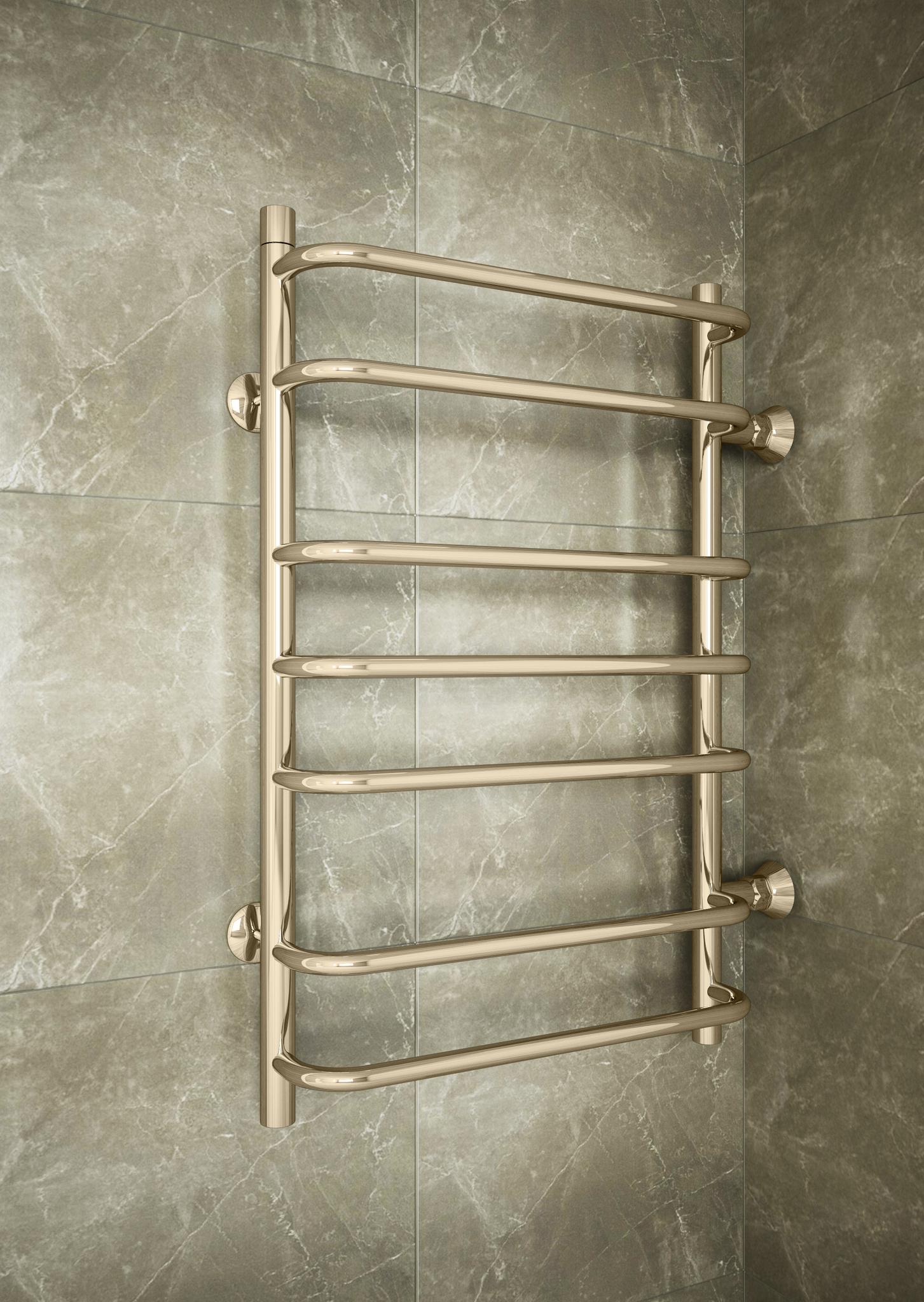 Standart  Bronze B - бронзовый полотенцесушитель с боковым подключением. Бронза