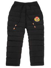002-1 брюки утепленные детские, черные
