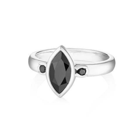 Кольцо PETALA - Черный оникс (огранка)