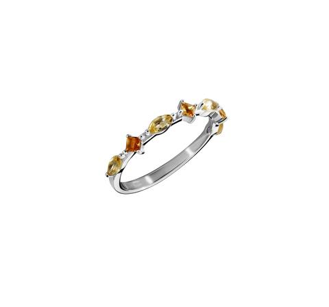 Кружевное кольцо с цитринами