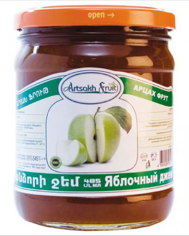 Джем яблочный Арцах Фрут, 485г