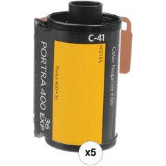 Фотопленка Kodak Portra 400 Color цветная негатив в 1 упаковка 5 катушек (35мм, 36 кадров)