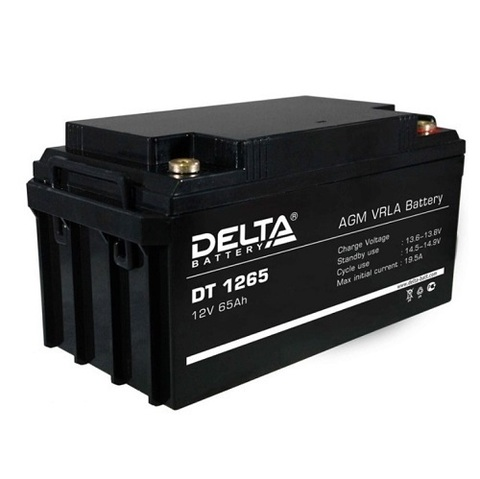 DT 1265 аккумулятор 12В/65Ач Delta