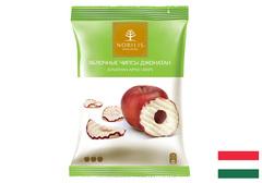 Яблочные чипсы в белом шоколаде, 50г