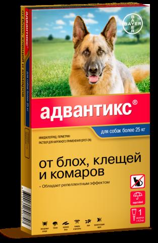 Bayer Адвантикс капли для собак более 25-40 кг от блох, клещей и комаров (1 пипетка)