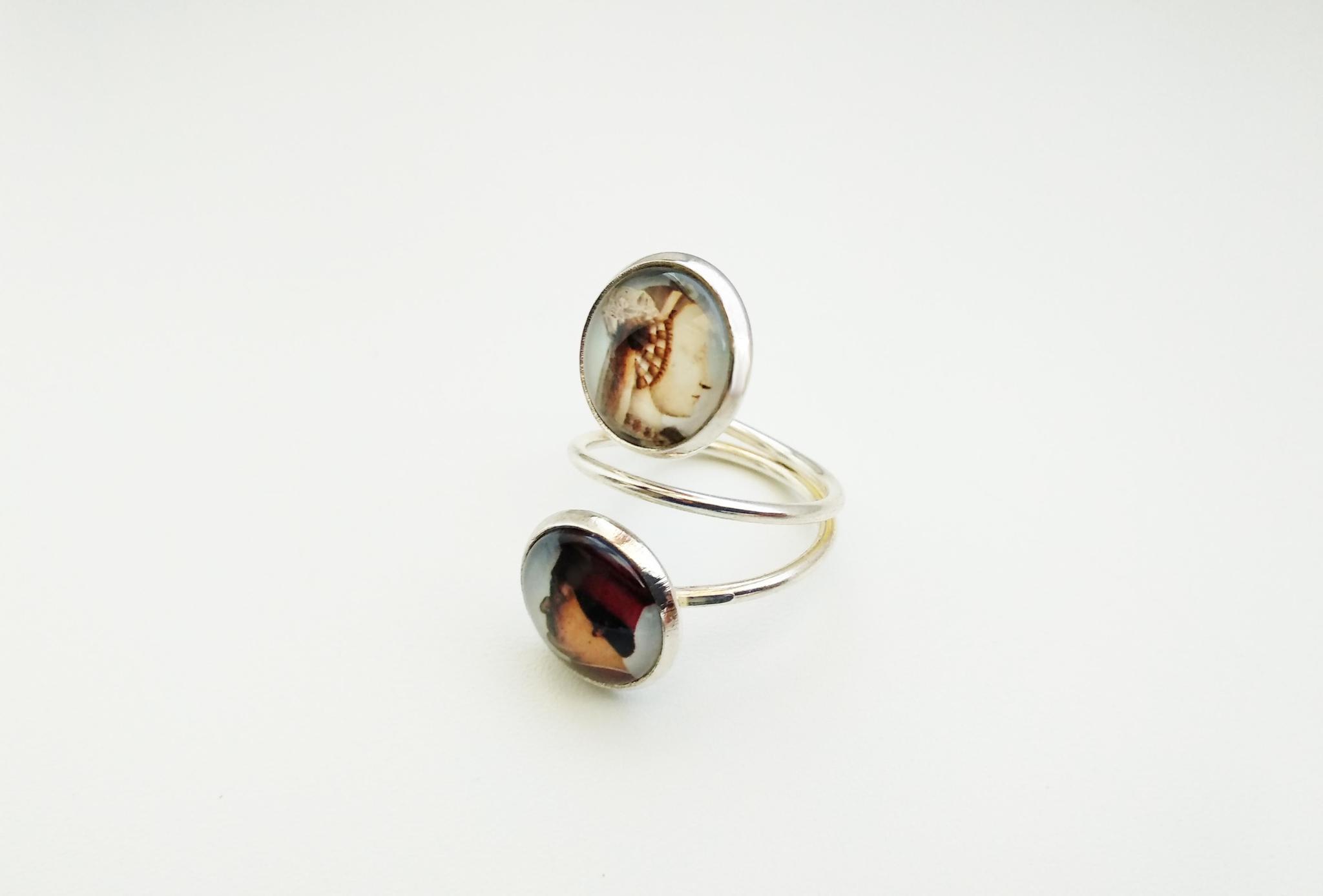 Кольцо двойное
