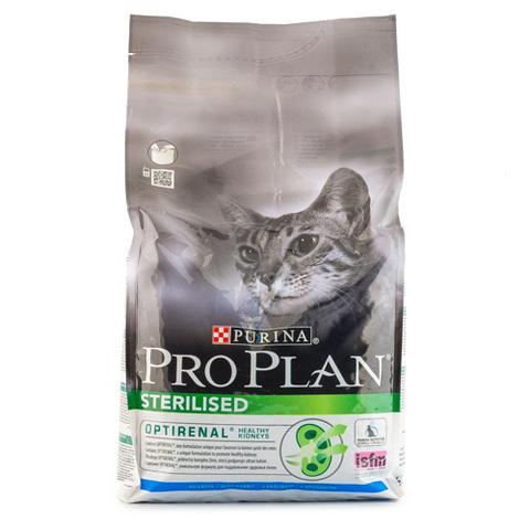 Корм сухой для стерилизованных кошек и кастрированных котов Pro Plan с курицеи и кроликом 1,5кг