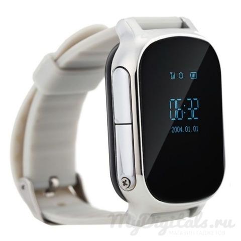 Детские часы GPS трекер Smart Baby Watch T58 Серебристые общий вид 2