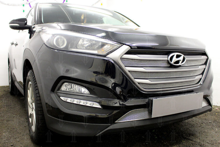 Решетка радиатора Стандарт (хром) Автолидер HTUS15.chrome для Hyundai Tucson (2015 - по н.в. ) 96w super bright s2 16pcs led signal warning emergency strobe police flash light intimidator led dash light