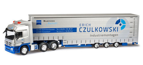 Herpa 909105 Грузовой автомобиль  Mercedes-Benz Actros L curtain canvas semitrailer