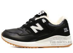 Кроссовки Мужские New Balance 530 Black White Beige С Мехом