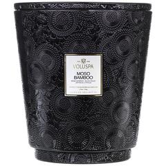 Ароматическая свеча Voluspa Бамбук мосо в большой банке с 5 фитилями