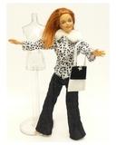 Костюм с полушубком - На кукле. Одежда для кукол, пупсов и мягких игрушек.
