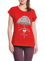 37662-8-5 футболка женская, красная