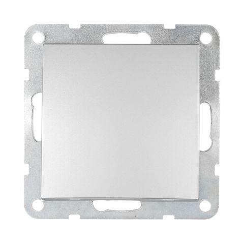 Выключатель одноклавишный, (схема 1) 16 A, 250 В~. Цвет Серебристый металлик. LK Studio LK60 (ЛК Студио ЛК60). 860103