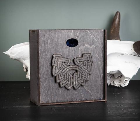 BOX218-1 Подарочная коробка из  дерева с бородой