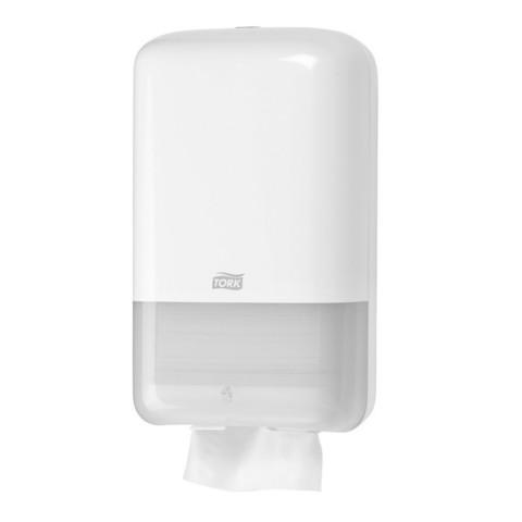 Диспенсер для туалетной бумаги листовой Tork Т3 556000 белый
