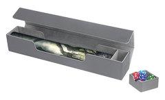 Ultimate Guard - Серая кожаная коробочка для игрового коврика
