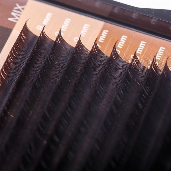 "NovaSecret Коричневые ресницы ""С mix"" Изгиб NOVASEСRET dark brown IMG_0404.jpg"