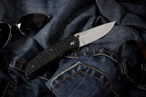 Складной нож Ирбис Полированный Эластрон