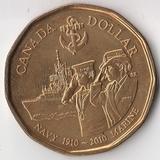 K6071, 2010, Канада, 1 доллар 100 лет Морскому Флоту UNC